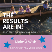 Bridgewater Marina's ''Feed the Fish'' program reels in nearly $20,000 for Make-A-Wish Foundation