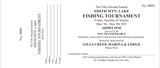 SML 52ND ANNUAL  FISHING TOURNAMENT AT GILLS CREEK MARINA (used to the Optimist)