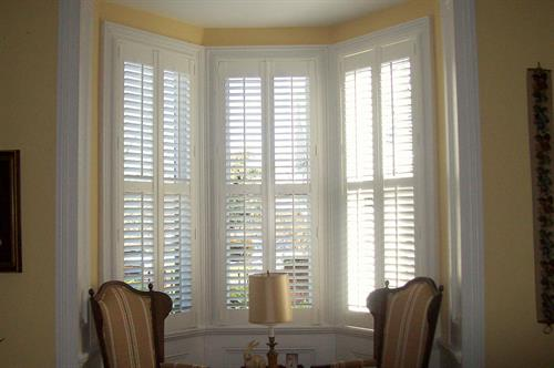 Traditional plantation shutters