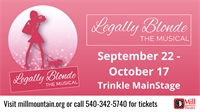 Legally Blonde the Musical at Mill Mountain Theatre