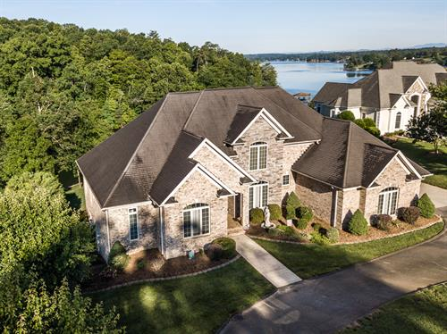 Lakefront Home Aerial
