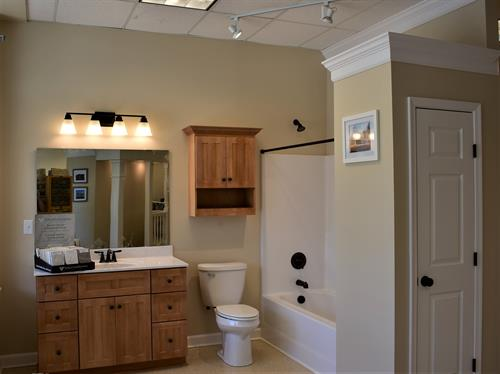 Here's an example of a typical guest bath.
