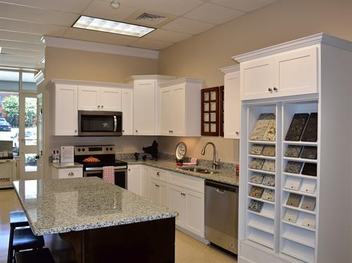 Our kitchens come with granite countertops and a vast array of cabinet choices.