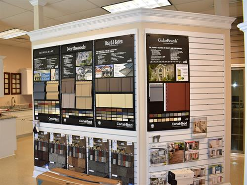 Choose from several different styles of vinyl siding or Hardie Plank siding.