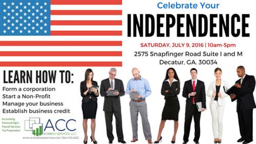 Celebrate Your Independence With ACC Business Services