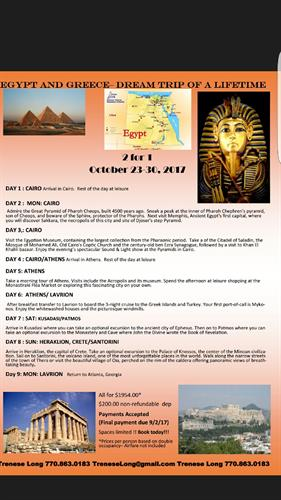 Egypt/Greece package October 2017