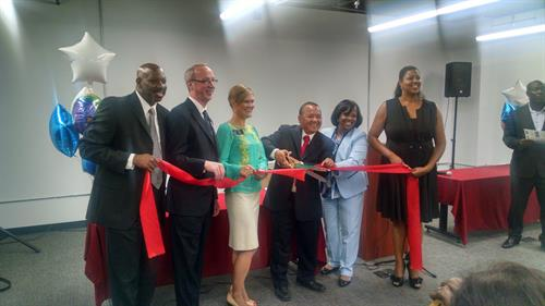 Ribbon Cutting at new office August 2017