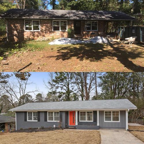 Decatur Ranch before & after by  http://www.hauszweihomes.com/