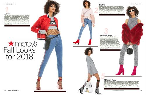 Magazine Macy's Fashion Ad: Created for Hers Magazine