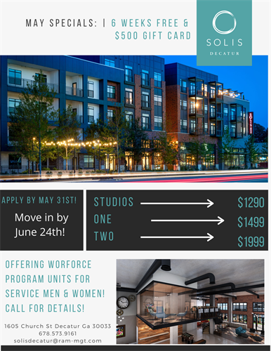 May Leasing Specials!