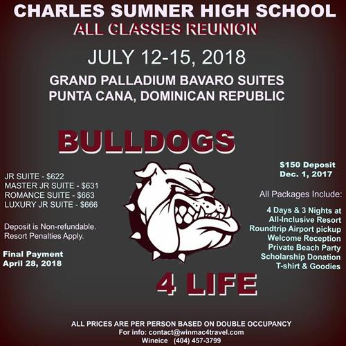 2018 Charles Sumner High School All Classes Reunion in Punta Cana, DR
