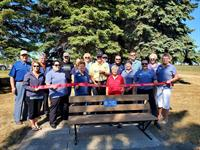Rotary Club Installs Benches Along Path