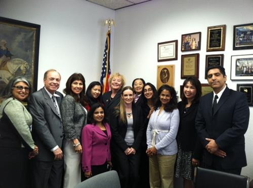 Sweta representing AILA SCV and the Immigrant communities at a meeting with Congresswoman Zoe Lofgren
