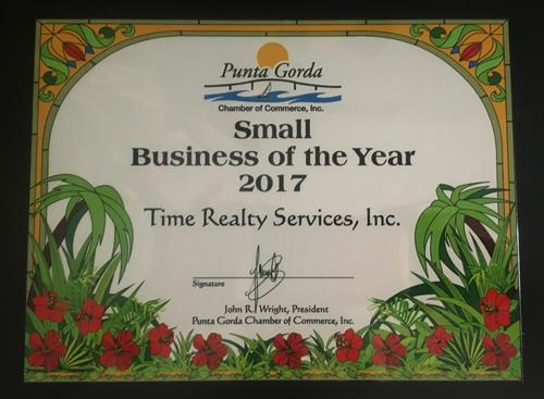 Punta Gorda Chamber 2017 Business of the Year