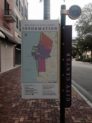 Informations signs downtown Punta Gorda