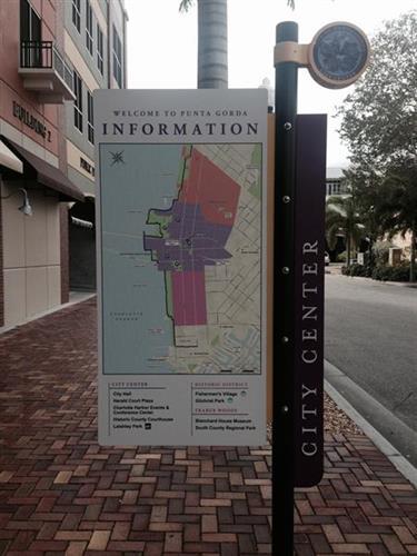 Informations signs downtown Punta Gorda