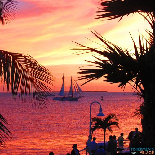 Sunsets can be viewed from numerous locations at Fishermen's Village