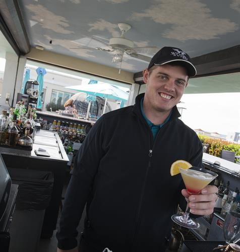 Friendly bartenders at Perch 360