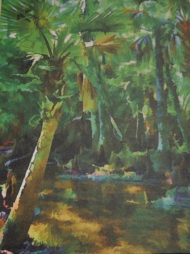 Old Florida painting by Sandy Poore