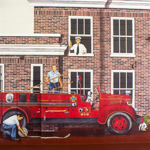 """""""Our First Firehouse"""" Mural"""