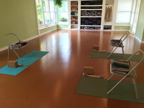 Preparing for chair class - yoga is for everybody!