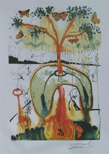 """Salvador Dali """"Mad Tea Party"""" Limited Edition Lithograph"""