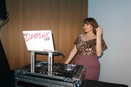 DJ Complex Lex DJing a private fundraiser in Beverly Hills