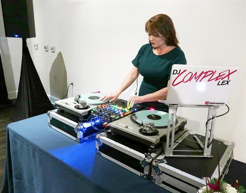 DJ Complex Lex DJing the Chevrolet Evening Reception in Hollywood