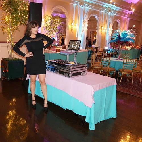 DJ Complex Lex DJing a private fundraiser in Pasadena