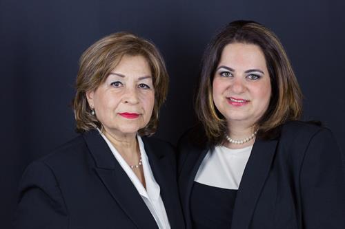 Shana Mokhtari and Mernie Mendoza