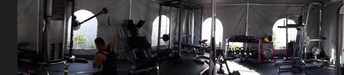 A full gym with top of the line NEW equipment to elevate your fitness level .