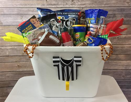 Football Themed Gift Basket