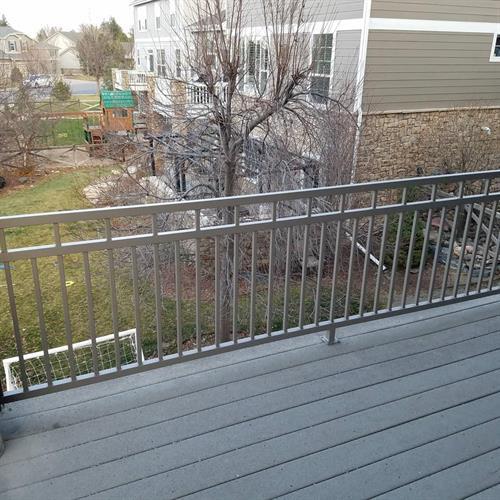 Exterior deck railing
