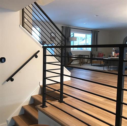 Updated metal railings