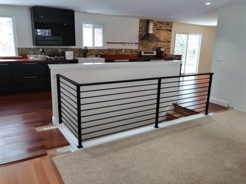 New metal railing for a home being renovated