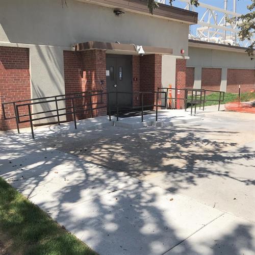 ADA compliant handrails for the Denver Federal Center