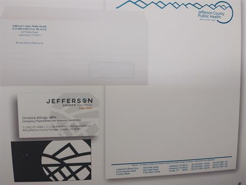 Business Materials (lettehead, business cards and envelopes)