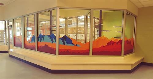 Graphics printed and installed at Foothills Animal Shelter