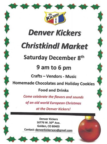 Denver Kickers Christkindl Market
