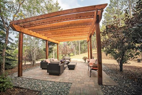 Outdoor Pergola Seating Area