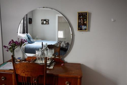 This is room 3 in the Victorian - this room has a huge claw foot tub with housemade bath bombs!