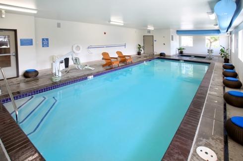 Saltwater indoor heated pool