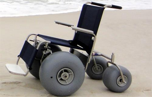 Beach Wheelchairs - free 4 hour rentals available.