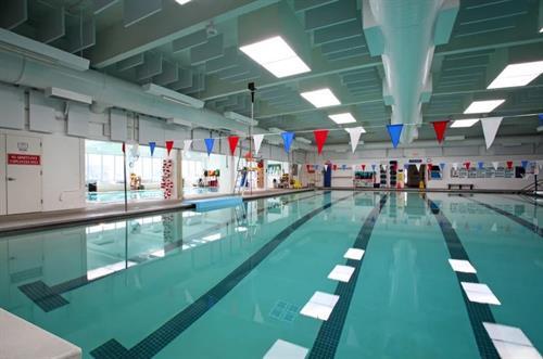 Main Pool: Lap, fitness pool, swim lessons, swim team, open swim