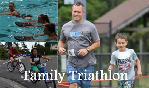 Annual Family Triathlon designed to include children in the challenge every June