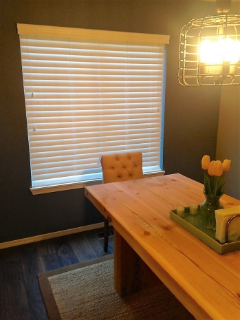 "Real 2"" wood blinds"