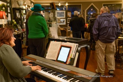 LIVE music is provided during an opening Art Walk reception
