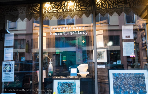 Front display windows feature NW emerging artists