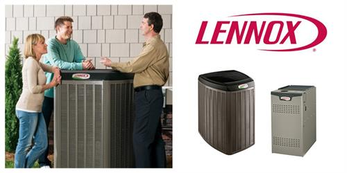 Lennox quality heat pumps, furnaces, and air conditioners.