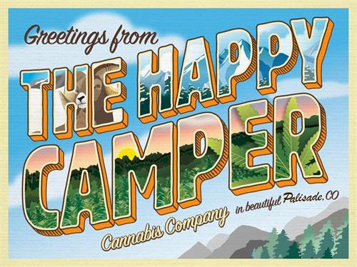 The Happy Camper Postcard